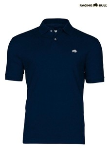 Raging Bull Blue New Signature Poloshirt