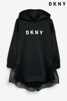 DKNY Black Hooded Dress