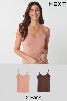 Lace Trim Vests 2 Pack