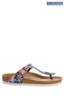 Birkenstock® Navy Floral Gizeh Sandals