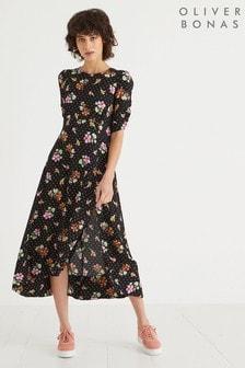 Oliver Bonas Tapestry Floral Midi Dress