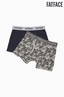 FatFace Grey Camo Boxers 2 Pack