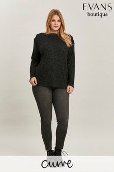 Evans Curve Dark Grey Jeggings