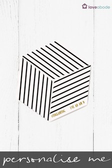 Personalised Stripe Hexagon Coasters by Loveabode