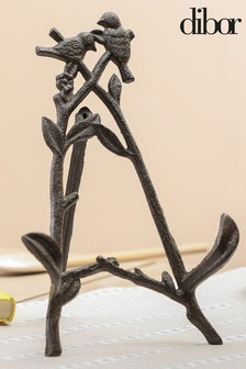 Cast Iron Birds Cook Book Stand by Dibor