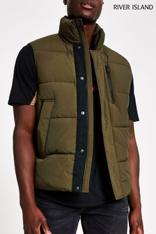 River Island Khaki Entry Gilet