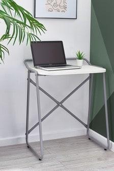 Compact White Desk