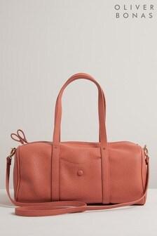 Oliver Bonas Pink Stella Dusty Pink Duffle Tote Bag