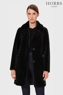 Hobbs Dark Green Ioanna Faux Fur Coat