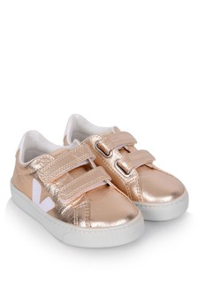 Girls Gold Esplar Velcro Trainers