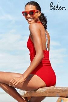 Boden Red Calasetta Swimsuit