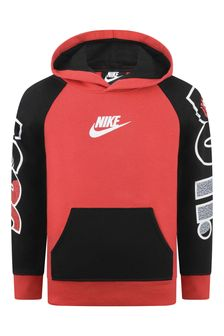 Boys Red & Black Cotton Just Do It Hoody