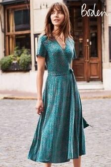 Boden Green Cassia Jersey Midi Dress