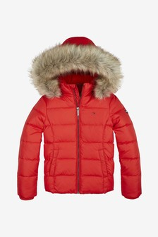 Tommy Hilfiger Girls Essential Basic Down Jacket
