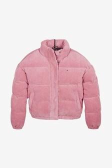 Tommy Hilfiger Girls Corduroy Padded Jacket