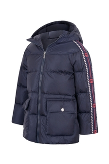 Girls Navy Down Padded Jacket