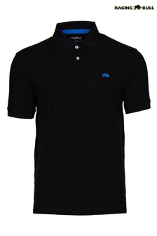 Raging Bull Black New Signature Poloshirt