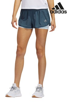 "adidas Blue M20 3"" Run Shorts"