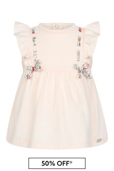 Tartine et Chocolat Baby Girls Pink Cotton Dress