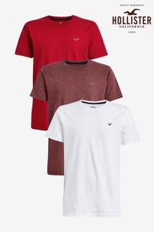 Zestaw trzech kolorowych koszulek Hollister