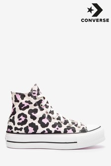 Converse Leopard Lift High Trainers