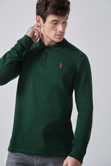 Long Sleeve Pique Polo