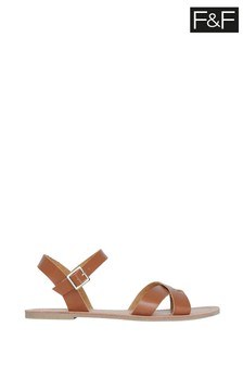 F&F Tan Strappy Sandals