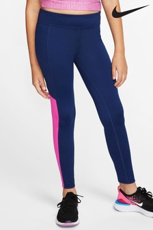 Nike Navy/Pink Trophy Leggings