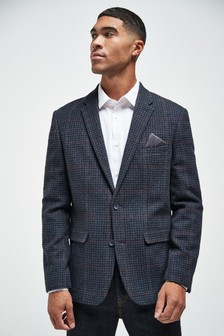Slim Fit Grey Check Jacket