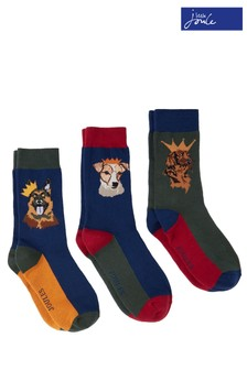 Joules Striking Christmas Socks Three Pack