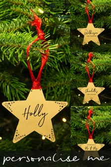 Personalised Star Christmas Decoration by Ellie Ellie