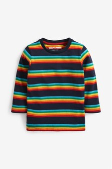 Long Sleeve Rainbow Stripe T-Shirt (3mths-7yrs)
