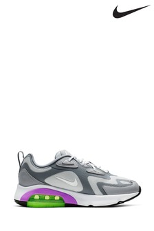 Nike Grey/Purple Air Max 200 Trainers