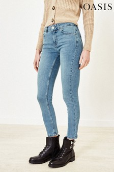 Oasis Blue Cherry Slim Leg Jeans