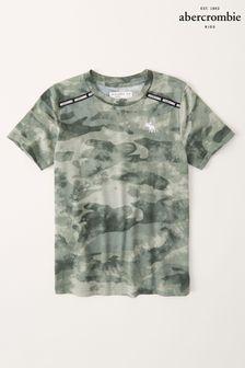 Abercrombie & Fitch Logo Tape Pattern T-Shirt