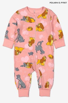 Polarn O Pyret Pink Gots Organic Lady & The Tramp Onesie