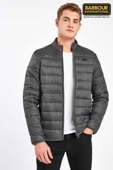 Barbour® International Charcoal Reed Quilt Jacket