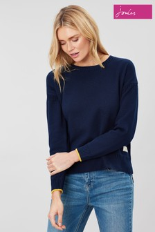 Joules Blue Luciana Boxy Guernsey Jumper