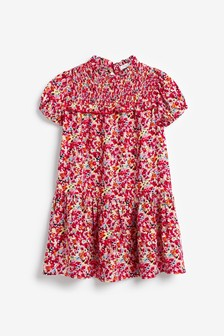 Print Shirred Dress (3-16yrs)