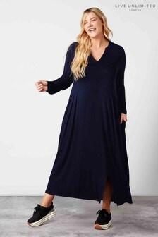 Live Unlimited Navy Midi Dress