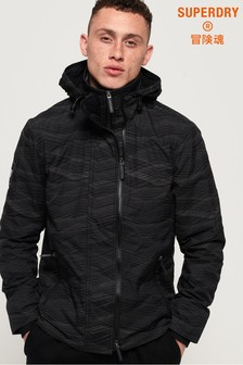 Superdry Hooded Arctic Print Pop Zip SD-Windcheater Jacket