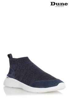 Dune London Navy Elianna Comfort Sock Boot Trainers