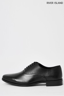 River Island Black Lace-Up Oxford Shoes