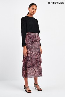 Whistles Wildcat Print Skirt