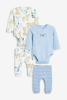 4 Pack Bodysuit And Leggings Set (0mths-2yrs)