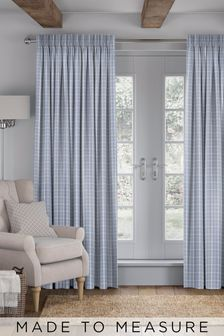Malvern Sky Blue Made To Measure Curtains