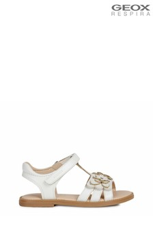 Geox Girl's Karly White Sandals