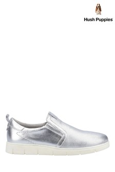 Hush Puppies Silver Lumi Slip-On Trainers