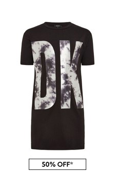 DKNY Black Cotton Dress