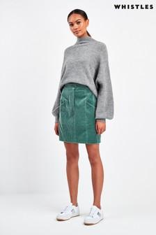 Whistles Sage Green Billie Cord Skirt